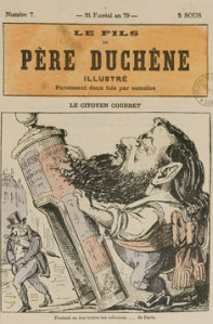 Le Citoyen Courbet Foutant En Bas Tout nes Les Colonnes De Paris