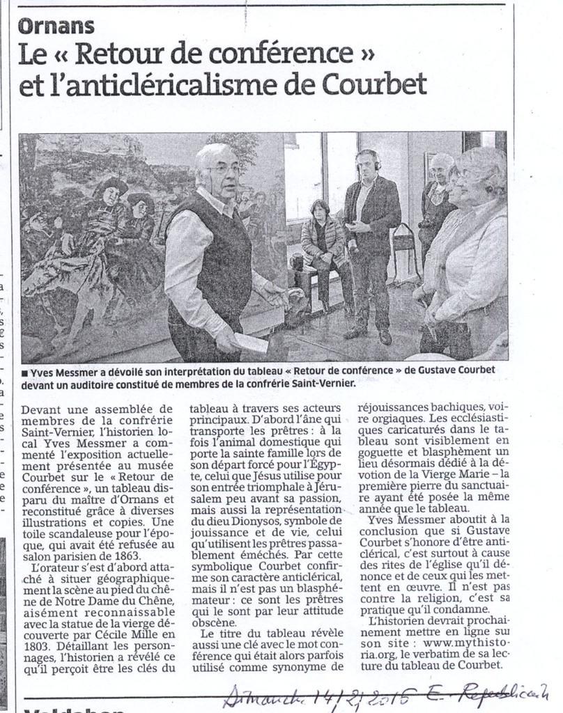 Article Est Républicain 14 - 02 - 2016